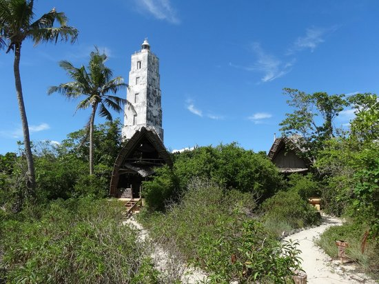 Chumbe Island Coral Park: Leuchtturm mit Cottages