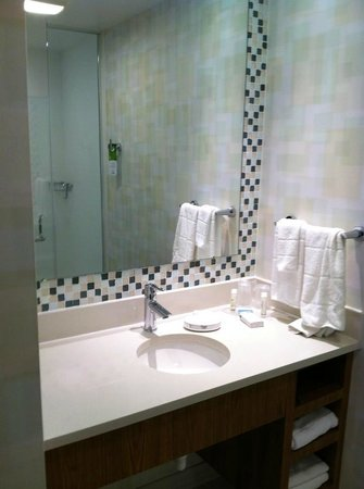 SpringHill Suites Houston Intercontinental Airport: Bathroom vanity