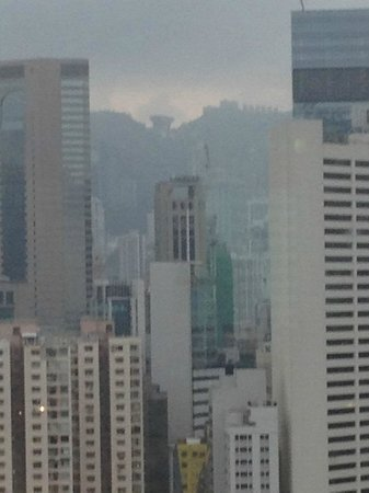 Metropark Hotel Causeway Bay Hong Kong: zoomed view from our room