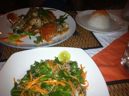 Brise de Kep: crabe au poivre de Kampot -un régal !