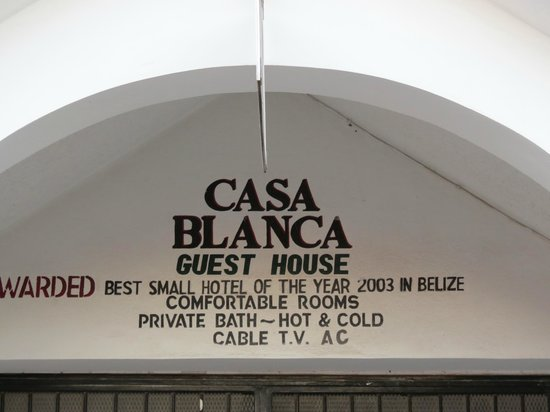 Casa Blanca Guest House : Hotel name