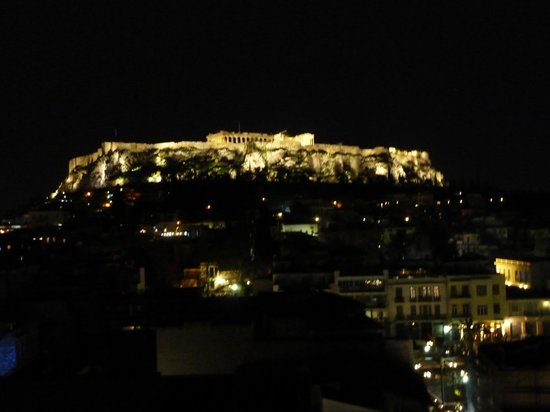 Plaka Hotel: View from rooptop