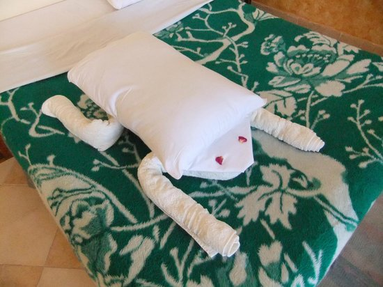 Nile Valley Hotel Restaurant: Towel Art