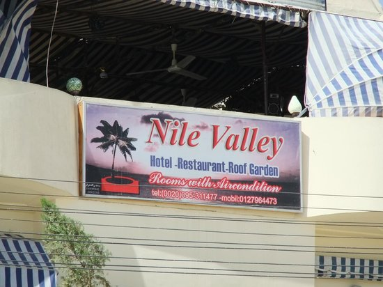Nile Valley Hotel Restaurant: Sign of Hotel