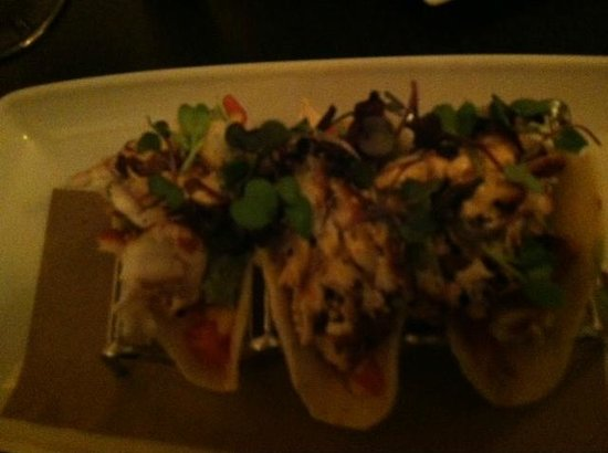 Lawson Pub: Trio of fish tacos. Excellent with layers of flavor