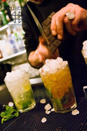 Cuatro Bar Barcelona : Our cocktail mojito mulata