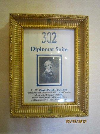 1840s Carrollton Inn: Diplomat Suite 302