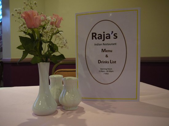 Raja's Restaurant: menu