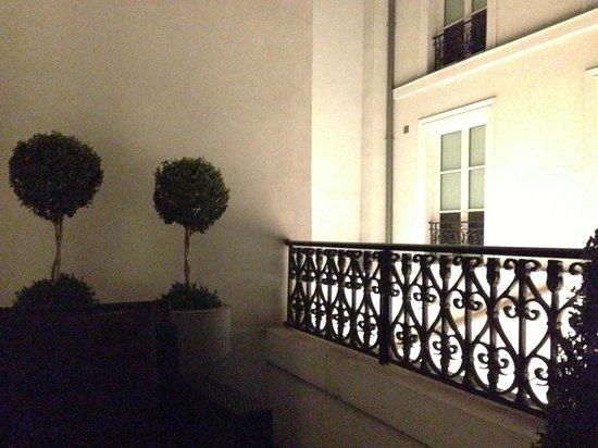 Les Jardins de la Villa & Spa: Big balcony