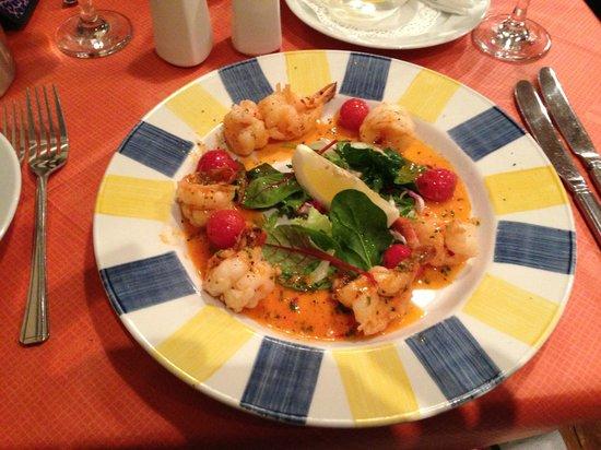 Ambrosini's: Prawns in wine,garlic and chilli