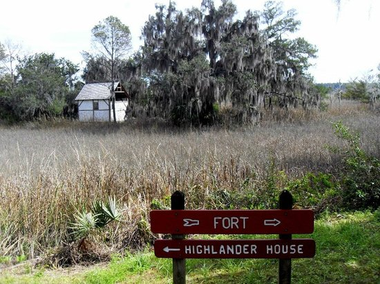 Fort King George Historic Site: Old home in the marsh