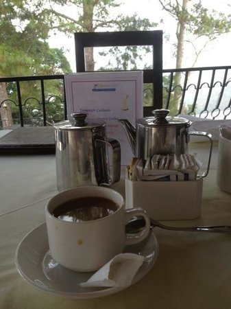 San Gregorio Hotel and Spa : great coffee and amazing scenery
