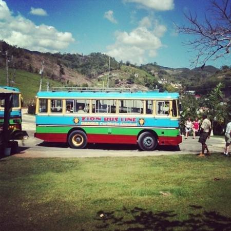 Beaches Ocho Rios Resort & Golf Club: The bus to the Marley mausoleum!