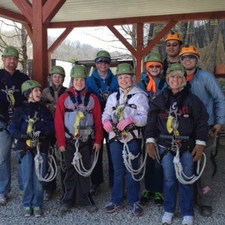 Explore Brown County at Valley Branch Retreat: Ziplining