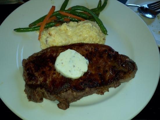 Highline Coffeehouse & Cafe: 12 oz blackend strip steak