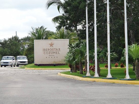 Iberostar Cozumel: Iberostar sign on the road
