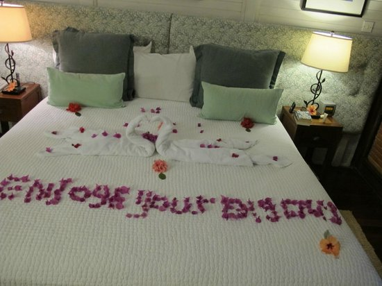 Tamarind Beach Hotel & Yacht Club: Thoughtful touch on our anniversary