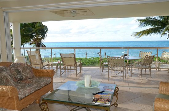Coral Gardens on Grace Bay: view from living room of condo