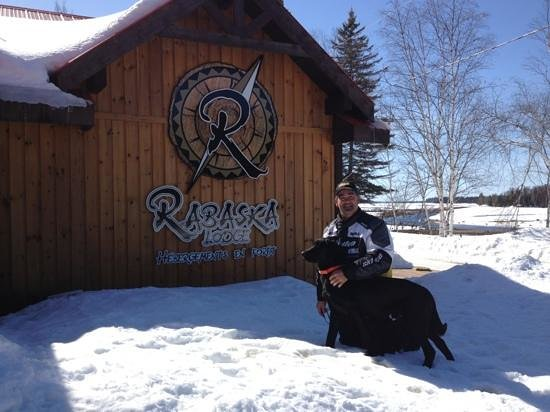 Rabaska Lodge : La star du Rabaska avec moi