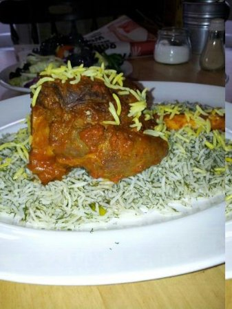 Moulin Rouge Cafe and Grill: baghli polo mahich ( Braised lamb shank with dill & broadbean rice ) on sundays
