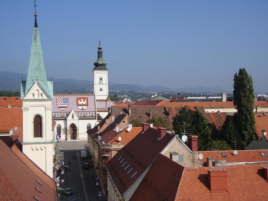 Upper Town (Gornji Grad): Vista desde la Torre Lotrscak