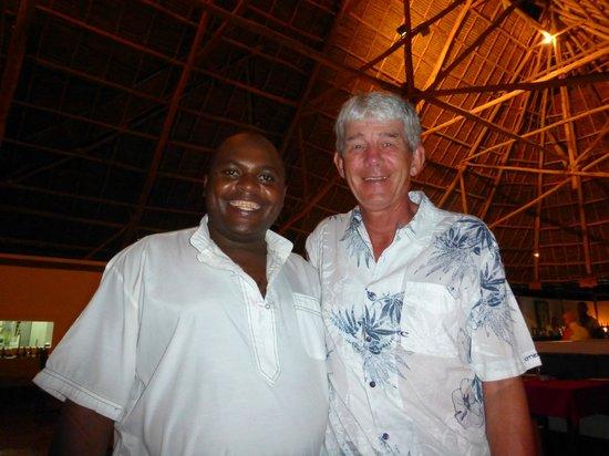 Pongwe Beach Hotel: Ever-smiling Stephen