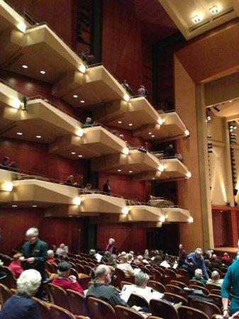 Benaroya Hall: tiers inside the hall