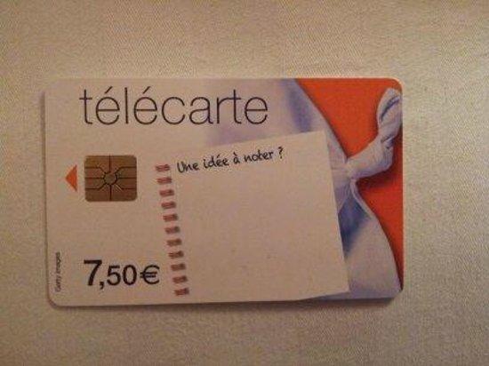 Hotel Neva - Paris: Tarjeta de Telefono