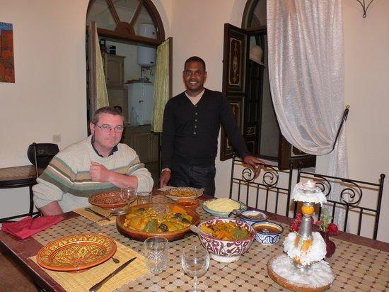 Riad Bamaga Hotel: Notre derniere soirée avec Youssef