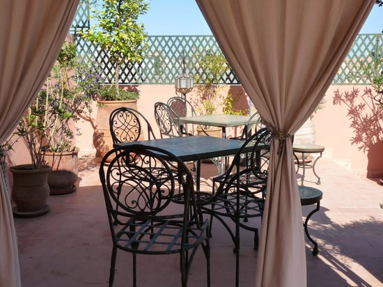Riad Bamaga Hotel: La terrasse du petit déjeuner