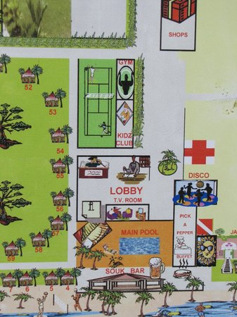 Royal Decameron Club Caribbean: hotel layout