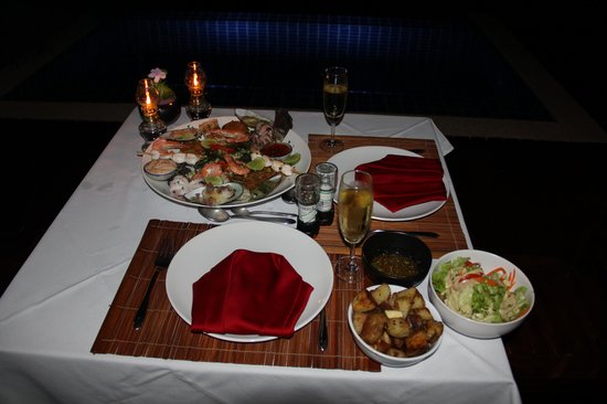The Place Luxury Boutique Villas: The Seafood Platter - Delicious!!