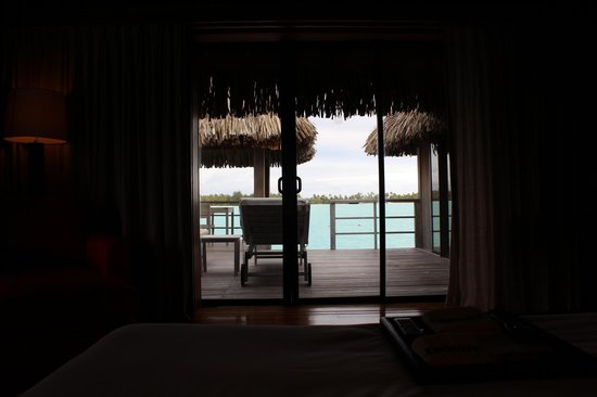 The St. Regis Bora Bora Resort: view from our bedroom