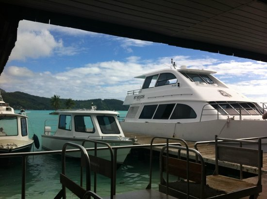 St. Regis Bora Bora Resort: St. Regis has biggest boat at the airport