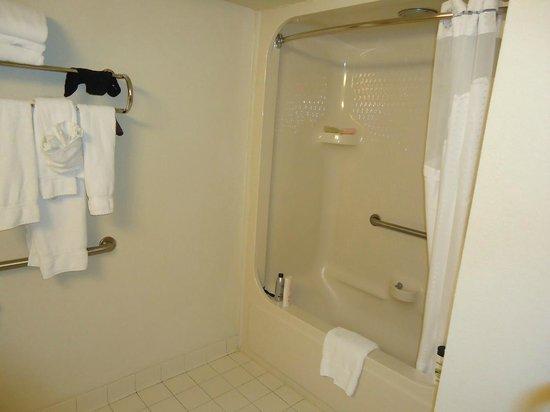 Holiday Inn Express Hotel & Suites Universal Studios Orlando: Ducha na Banheira - Teto baixo - Holiday Inn Express