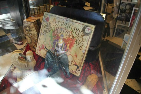 A Spirit board at HEX: Old World Witchery in Salem, MA