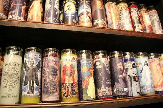 Custom 7-Day candles at HEX: Old World Witchery in Salem, MA