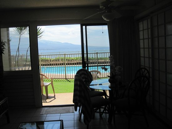 Hono Kai Condominium Resort: from inside the condo