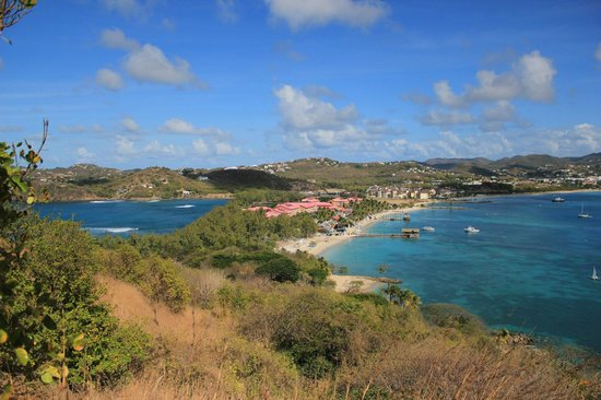 Sandals Grande St. Lucian Spa & Beach Resort: View from Pigeon island