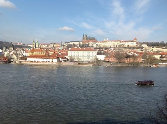 Four Seasons Hotel Prague: Front view from duplex suite 335