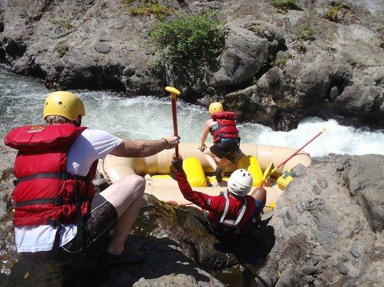 Rincon Corobici : Boarding our raft.