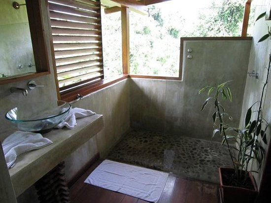 Finca Maresia: Modern bathroom with open air shower