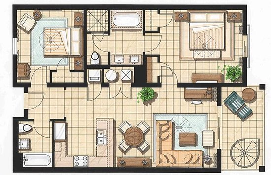 Floor Plan For 2 Bedroom Presidential Suite This