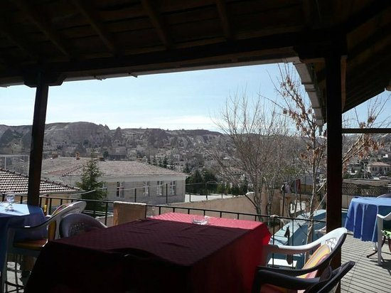 Emre Cave House: View from the upstairs terrace at Emre's Cave House