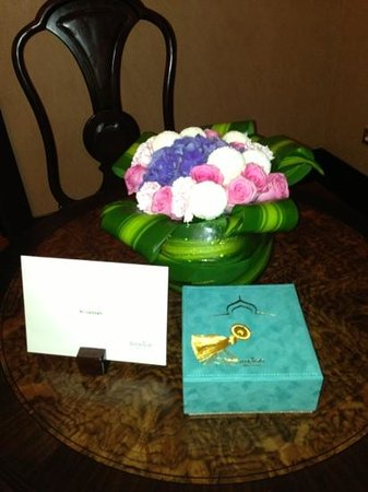 Jumeirah Zabeel Saray: welcome gifts