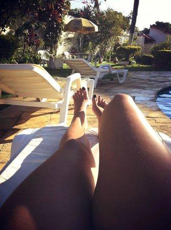 Pousada Recanto Sol a Sol: Relaxando na piscina