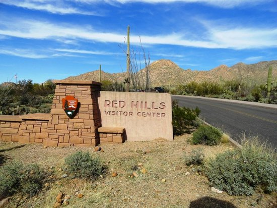 at the entrance picture of red hills visitor center tucson tripadvisor. Black Bedroom Furniture Sets. Home Design Ideas
