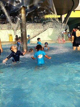 Sengkang Swimming Complex: Our kids having fun in the pool.