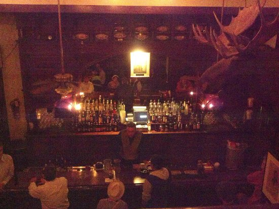 Menger Bar: Yes, it is dark inside and it exudes history.