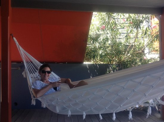 Karibuni Lodge: Hammock on our deck